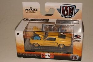 M2 MACHINES DETROIT MUSCLE 1968 FORD MUSTANG FASTBACK 2+2, YELLOW 1 OF 5880, NIB