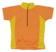 Bellwether Sharp Cycling Jersey Womens XL XLG Short Sleeve Orange Yellow