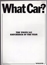 Volvo 343 DL Car Of Year 1979 UK Market Leaflet Brochure What Car? 340 Series