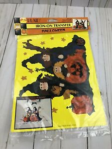 New! Vintage 1995 Plaid Iron On Transfer Halloween Witches