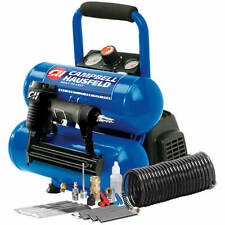 Campbell Hausfeld 1-HP 2-Gallon Twin Stack Air Compressor w/ Combination Nail...
