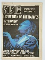 NME  6 June 1987 U2 Zodiac Mindwarp Firehouse Band of Holy Joy Alex Cox