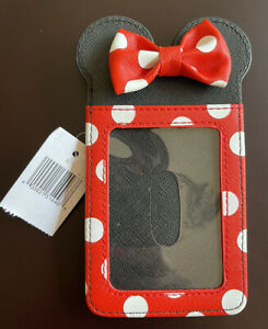 Disney Parks Minnie Mouse Dot Bow Credit Card ID Holder Wallet NWT