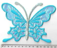 XL METALIC BLUE BUTTERFLY ✿ IRON ON Patch /Motif /Applique.