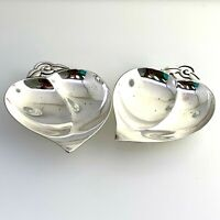 Tiffany & Co 2 Heart Shaped Apple Dishes Cr. 1960 in Sterling Silver