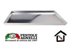 AGNELLI 49/3 - TEGLIA RETTANGOLARE IN LEGA D'ALLUMINIO 3003 CON ORLO  30 e 35 cm