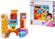 Eichhorn Klangbausteine Bunte Holzbausteine Geräusche Spielzeug für Babys