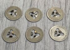 Set Of 6 Rolls Royce Hub Cap Beauty Ring  ( Painted Trim Clips / Stainless Steel