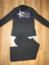 Beautiful Dazzling Dames Warmup Suite Jacket Pants Dance Twirl Baton Adult M