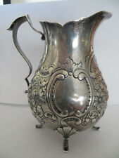 """Small Sterling Silver Repousse Pitcher Spaulding & Co. 165 grams 4.5"""" tall"""