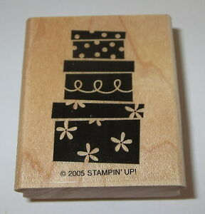 Presents Stampin' Up Rubber Stamp Gifts Stack Birthday Shower Bridal Baby New