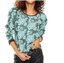 Geblümte hüftlange Damen-T-Shirts aus Baumwolle
