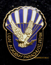 US AIR FORCE ACADEMY PARACHUTE TEAM HAT LAPEL PIN UP JUMP SOLO WING GIFT WOW