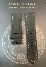 Panerai Gray OEM Suede Strap 24mm Lug for Tang Buckle