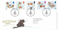 6 NOVEMBER 2001 CHRISTMAS ROYAL MAIL FIRST DAY COVER BUREAU SHS (x)