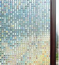 3D Decorative Window Film Non Adhesive Privacy Frosted Films Removable Mosaic