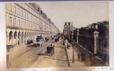 HORSE DRAWN BUS PARIS RUE RIVOLI FRANCE 2 ORIGINAL OLD PHOTOS on card 19x11cm FJ