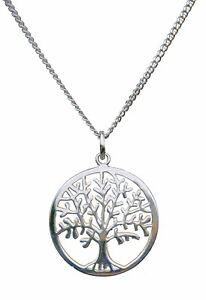 ANTOMUS® 925 SILVER TREE OF LIFE YGGDRASIL ADJUSTABLE NECKLACE THREE CHAINS IN O