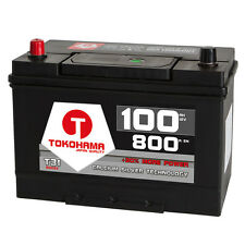 Asia Autobatterie 12V 100Ah + Plus Pol Links Batterie Starterbatterie Japan KFZ