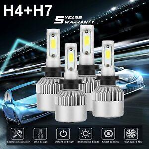 4Pcs  For Ford Falcon BA BF FG XR6 XR8 H4 H7 LED Headlight Kit Bulbs Globes Lamp