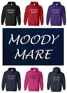 NEW ADULT FUNNY HORSE / PONY Hoody / Hoodie MOODY MARE S to XXL Ladies Top