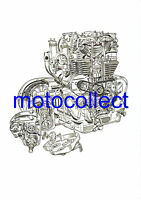 ROYAL ENFIELD Constellation Engine - Cutaway Drawing..A3..Free Postage Worldwide