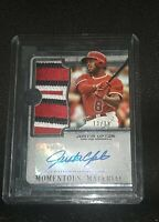 2019 Topps Justin Upton Momentous Material Patch Auto 13/15