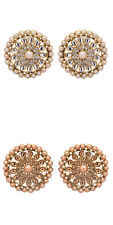 Wedding Indian CZ Pearl Stud Fashion Earrings by Jwellmart for Women and Girls