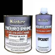 Kirker Enduro Prime Epoxy Primer Black EP612QT 1 qt and Catalyst EPC611QT 1 qt