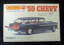 Boîte d'allumettes AMT 55 Chevy Nomad Kit modèle d'échelle 1/25