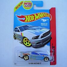 2014 Hot Wheels 161/250. SILVER '13 Ford Mustang GT. Track Aces. New in Package!