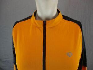 Pearl Izumi Size M Mens Orange Athletic Full Zip Cycling Track Jacket T602