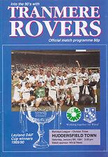 Tranmere Rovers v Huddersfield Town 90-91 de la Liga Match