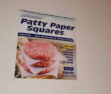 DURABLE PATTY PAPER SQUARES (100 SHEETS) NON-STICK, EASY SEPARATION OF PATTIES!!