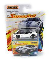 Matchbox MBX Superfast 2019 Corvette weiß 50 Jahre Superfast Moving Parts Box