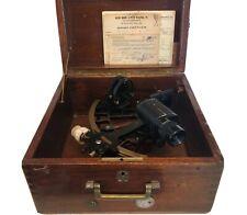 Vintage C. Plath Hamburg Germany Sextant Nautical Maritime Instrument 1956 W Box