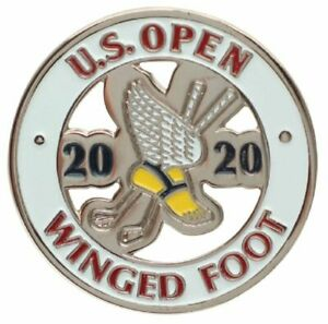 2020 US Open (Winged Foot) -Flat- (White) Logo Golf BALL MARKER