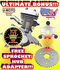 66cc/80cc 2-Stroke Motorized Bike Engine Only For Motorized Bike Kits And Bonus!