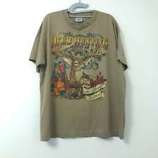 Vintage Sof Tee TeeJays Brown Deer Hunting Graphic T-Shirt Men's Size XL