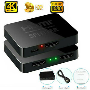Premium HDMI Splitter 1 in 2 out 4K 1 To 2 Amplifier For Full HD 1080P 3D USA