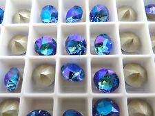 6 Sapphire Glacier Blue Swarovski Crystal Chaton Stone 1088 39ss 8mm