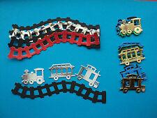 Train Set & track die cut shapes