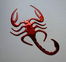 Red chrome effet Scorpion badge decal pour PEUGEOT 1007 308 508 5008 Rcz Partner