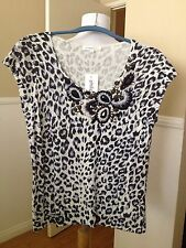 Fancy Women Blouse By Philippe Carat (Made In France) Animal Print Size XL