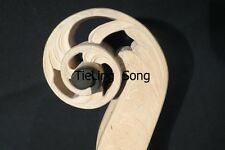 Carved Unfinished  upright double bass maple neck 4/4 ,best workmanship