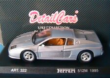 FERRARI 512M SILVER 1995 DETAIL CARS 322 1/43 DETAILCARS ARGENT SILBER GRIS