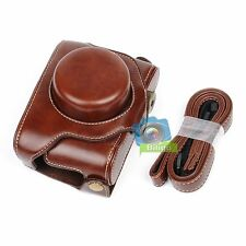 Detachable Leather Camera Protect Case Bag Cover&Strap For Fujifilm Fuji X30【UK】