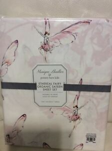 Pottery Barn Kids Monique Lhuillier Ethereal Fairy Organic Twin Sateen Sheets