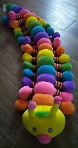 "27"" Melissa Doug Caterpillar Longfellow Princess Soft Toys Plush Rainbow"