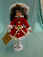 Seymour Mann Porcelain Dolls Connoisseur Collection Holiday Ice Skating